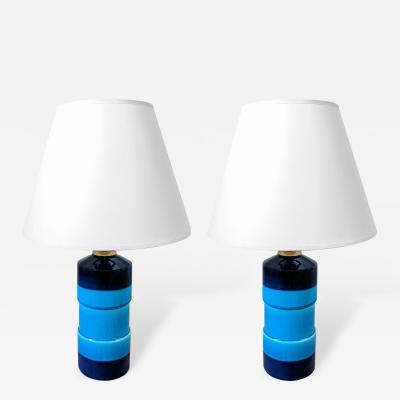 R rstrand A Pair of 1960s Ceramic Lamps by Rorstrand