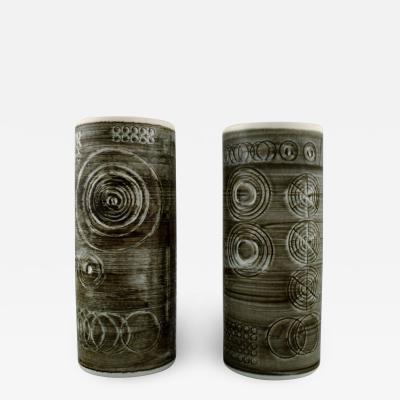 R rstrand A pair of retro vases Sarek stoneware