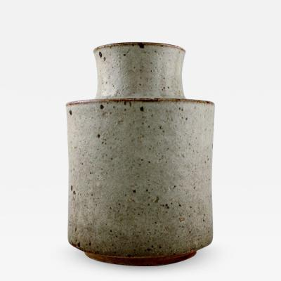 R rstrand Large cylindrical vase in glazed stoneware