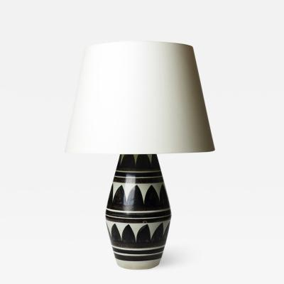 R rstrand Large table lamp with graphic patterning by R rstrand
