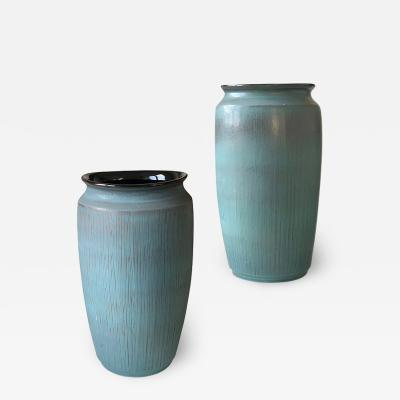 R rstrand Pair of Monumental Organic Modern Vases by Rorstrand