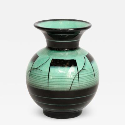 R rstrand Scandinavian Art Deco Glazed Ceramic Vase by Ilse Claesson for R rstrand