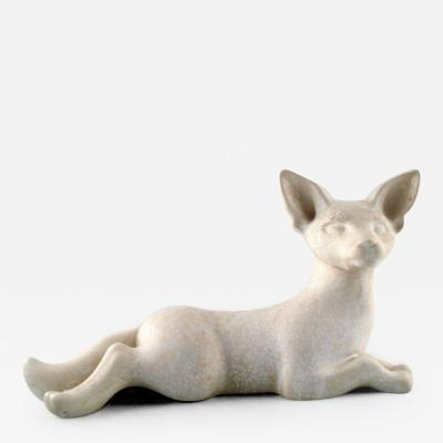 R rstrand Stoneware figure lying fox