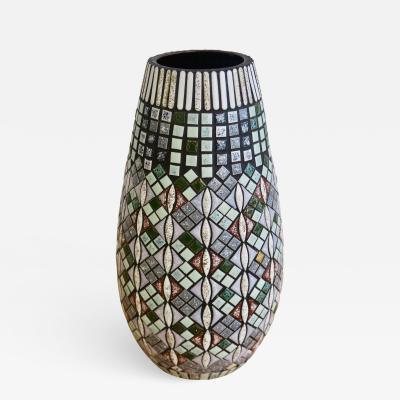R ssler Porzellan Swiss Mosaic Ceramic Vase by R ssler