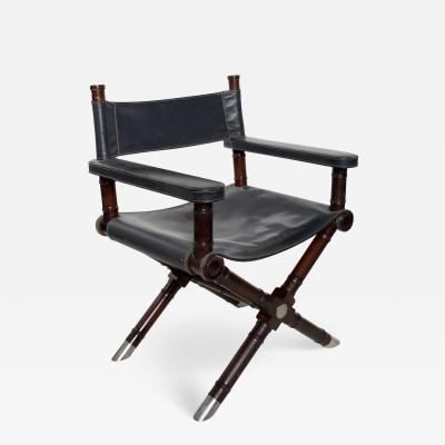 Ralph Lauren Ralph Lauren Leather Hollywood Directors Chair in Navy Blue Vintage Classic