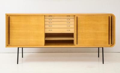 Raphael Furniture France Modernist Double Faced Sycamore Credenza by Raphael