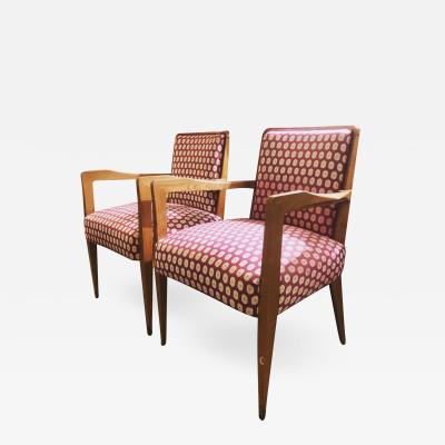 Raphael Furniture France Rapha l 1912 2000 Suite Of Four Oak Armchairs Circa 1952