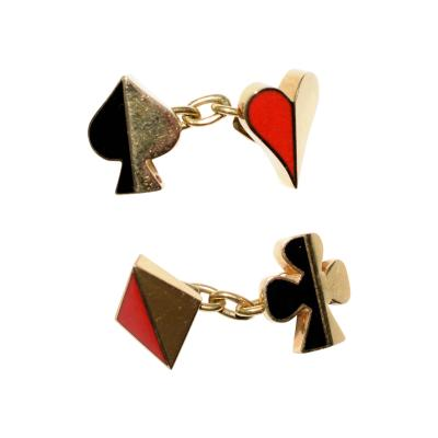Ravinet D Enfert Cufflinks in the form of Playing Card Suits by Ravinet DEnfert