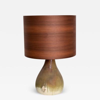 Raymor Scandinavian Modern Pottery Fat Lava Table Lamp Ceramic Drip Glaze Denmark 1960s
