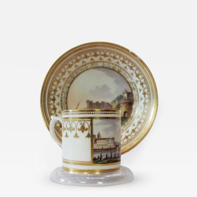 Real Fabbrica Ferdinandea An 18th Century Real Fabbrica Ferdinandea Porcelain Cup and Saucer
