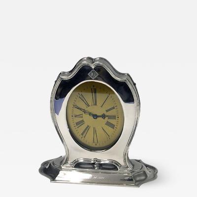 Reed Barton American Art Deco Sterling Clock Reed Barton circa 1920