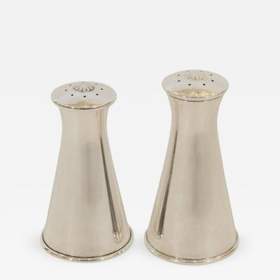 Reed Barton Modernist Pair of Reed Barton Sterling Silver Salt and Pepper Shakers