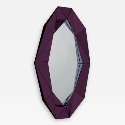 Reflections Copenhagen Burgundy Large Diamond Decorative Mirror
