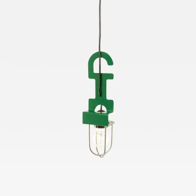 Reggiani Green pendant or table lamp by Reggiani 1970s