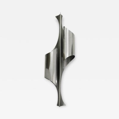 Reggiani Italian Single Sconce Designed by Reggiani In Chrome