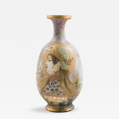 Riessner Stellmacher Amphora Portrait Vase Allegory Germany Riessner Stellmacher Kessel