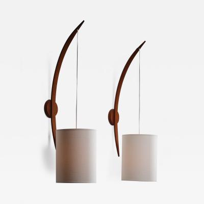 Rispal Rispal boomerang shaped wall lamps