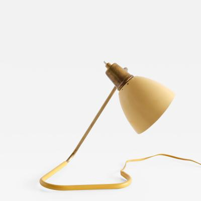 Robert Caillat Robert Caillat Table Lamp with Yellow Adjustable Shade France 1950s