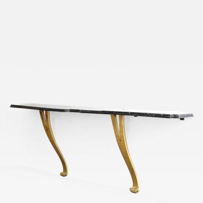 Roberto Mito Block Bronze and Marble Console