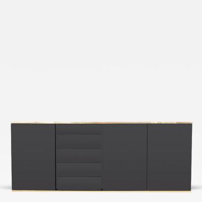 Roche Bobois Black Lacquered Credenza by Roche Bobois