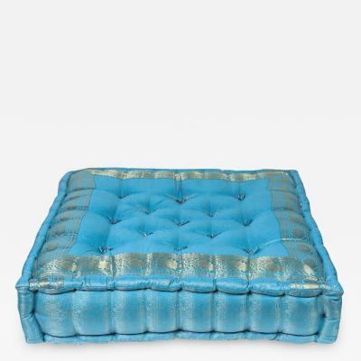 Roche Bobois Moroccan Oversized Turquoise Tufted Floor Pillow Cushion