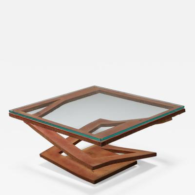 Roche Bobois Steel coffee table by Maurice Barilone for Roche Bobois 1980s
