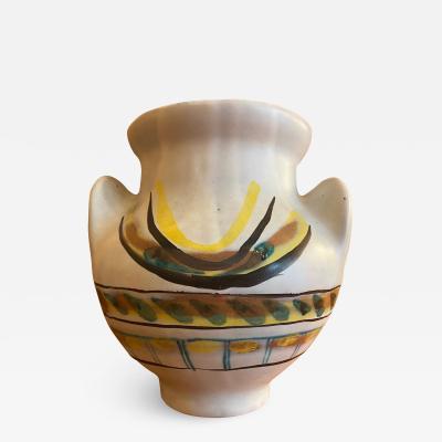 Roger Capron Ceramic Vase Soleil Vallauris south of France 1950s