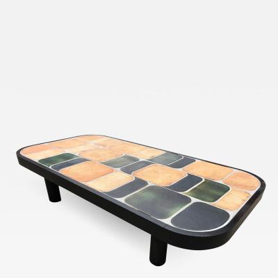 Roger Capron Ceramic coffee table model Shogun Vallauris France early 1970s