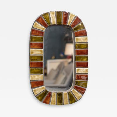 Roger Capron French Wall Mirror after Roger Capron