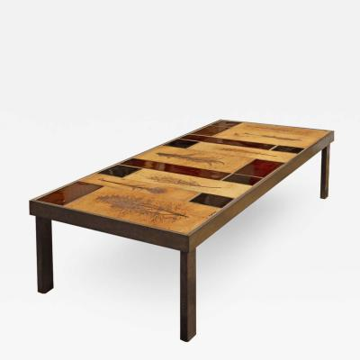 Roger Capron Roger Capron Garrigue Impression and Lava Tiles Coffee Table