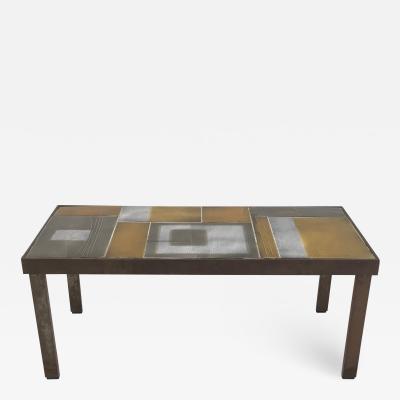 Roger Capron Roger Capron Glazed Lava Tile Coffee Table 1962