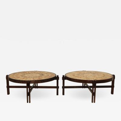 Roger Capron Roger Capron Mid Century Modern French Coffee Tables