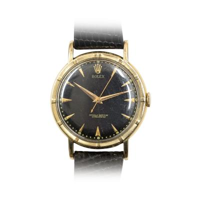 Rolex 1950s Rolex Gold Thunderbird Bezel Chronometer Watch