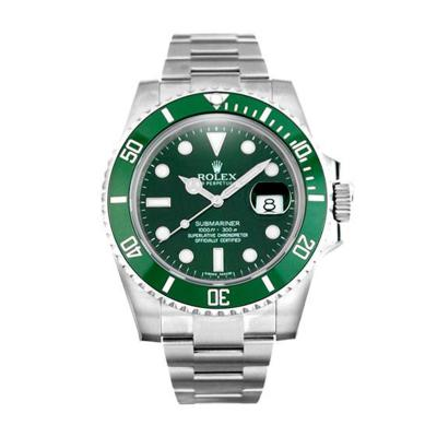 Rolex 2010 Rolex Cerachrom Green Bezel Submariner Style No 116610LV Pre Owned