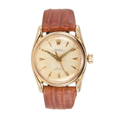Rolex Bombay 18K Pink Gold Watch Ref 6090