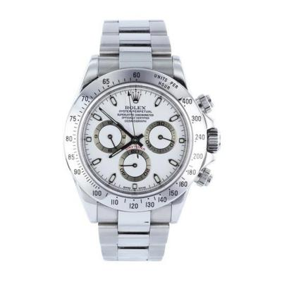 Rolex Gents Stainless Steel White Dial Rolex Daytona Model No 116520