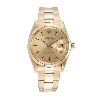 Rolex Gold Date Wristwatch Ref 1500