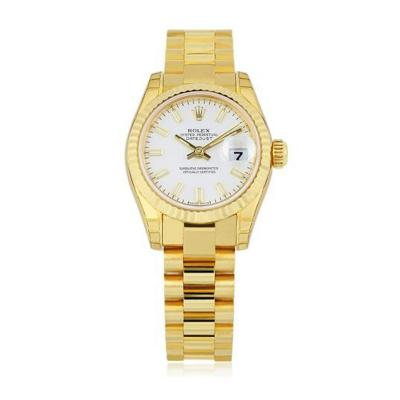 Rolex Ladies Rolex Datejust President Style No 17917205008 Pre Owned