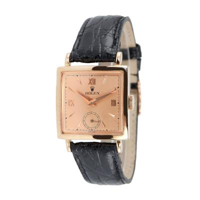 Rolex Pink Gold Square Dress Watch Ref 4470