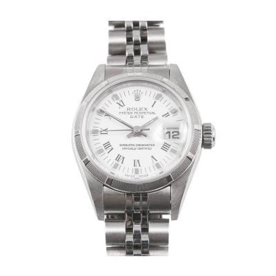 Rolex Rolex Ladys Stainless Steel Date Wristwatch