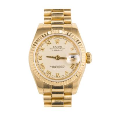 Rolex Rolex Ladys Yellow Gold Datejust Wristwatch Ref 179178 circa 2002