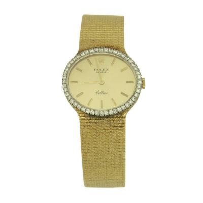 Rolex Rolex Ladys Yellow Gold and Diamond Cellini Bracelet Watch circa 1973