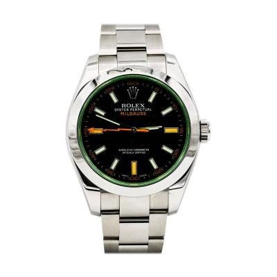 Rolex Rolex Stainless Steel Milgauss Black Dial 40 mm Automatic Wristwatch