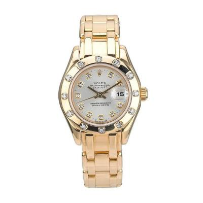 Rolex Rolex Yellow Gold Diamond Pearlmaster Automatic Wristwatch