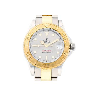 Rolex Rolex Yellow Gold Stainless Steel Platinum dial Midsize Yachtmaster Wristwatch