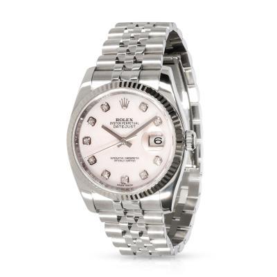 Rolex Watch Co Rolex Datejust 116234 Mens Watch in 18kt Stainless Steel White Gold