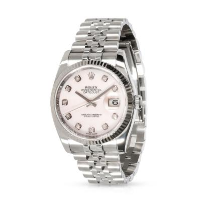 Rolex Watch Co Rolex Datejust 116234 Mens Watch in 18kt Stainless Steel White Gold