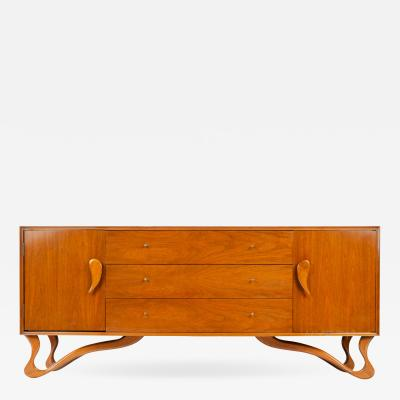 Roman Furniture Corp Sideboard with Teardrop Handles and Ribbon Feet
