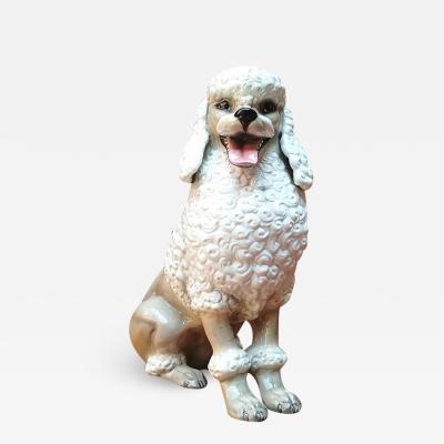 Ronzan Poodle ceramic by Ronzan 1970s