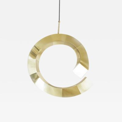 Rooms Brass Spiral Pendant Lamp by Rooms